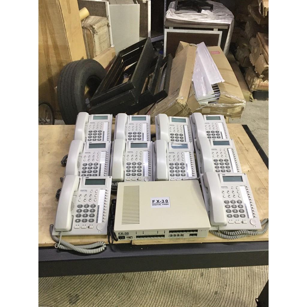 年強二手家具-萬國電話總機*電話分機系統 FX-30  附10話機 保固三個月 11005181