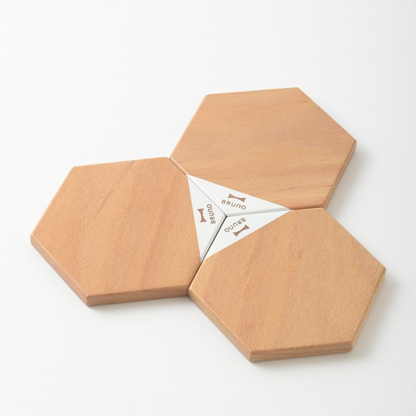 【日本BRUNO】 原木磁吸式組合桌墊 BHK139-NW