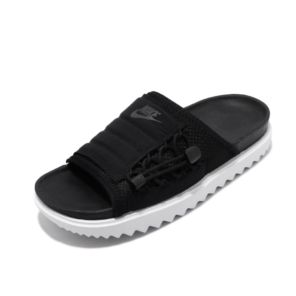 Nike 拖鞋 Wmns Asuna Slide 黑 白 鋸齒 潮流 女鞋 涼拖鞋 【ACS】 CI8799-003