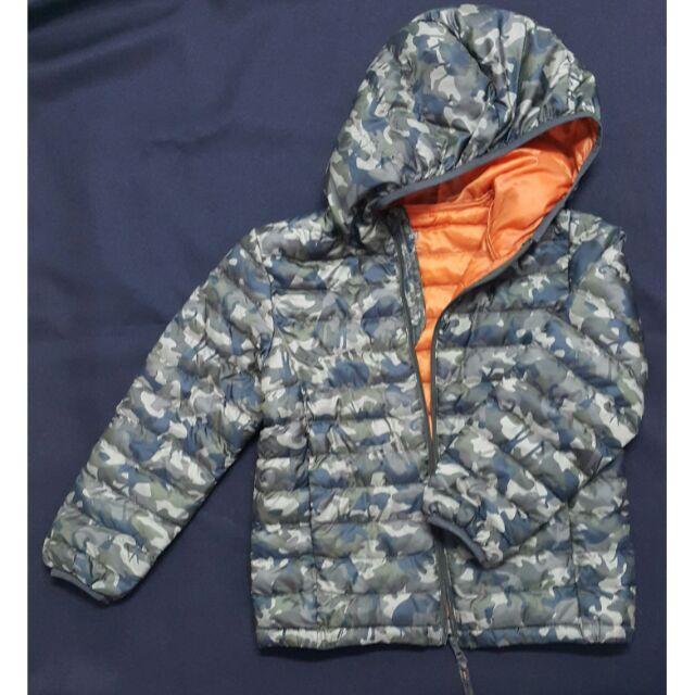 uniqlo兒童連帽輕羽絨外套(微勾紗)130cm