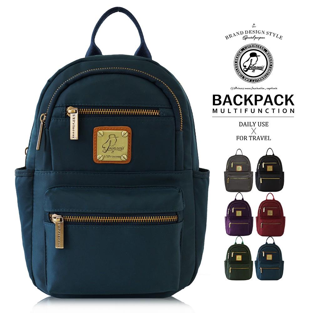 1/2princess高磅數防潑水尼龍五度空間2way側胸包後背包-5色[A2740] 廠商直送 現貨