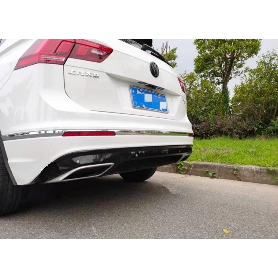 """福斯 VW New Tiguan 雙出 後下保桿 後下擾流 R Line裝飾排氣管 """"""""安裝請聊聊詢問哦"""""""""""
