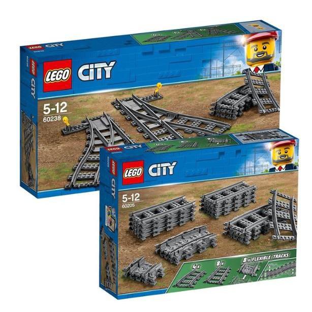 《招財喵雜貨舖》 Lego 城市系列火車軌道 lego 60238  lego 60205