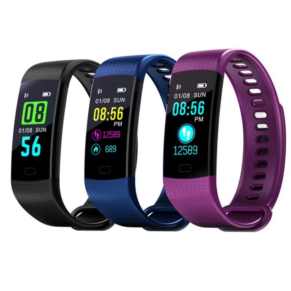 M5動態彩屏藍芽智能心率GPS運動手環(黑/藍/紫)