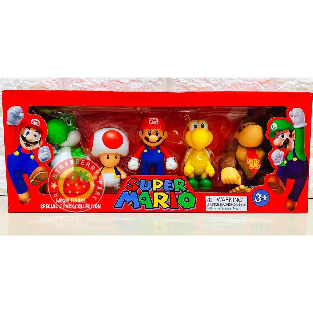 ✰草莓公園【超級瑪利兄弟 Mario 馬力歐 瑪莉歐 路易 烏龜 耀西 任天堂造型公仔 模型 玩偶 玩具】