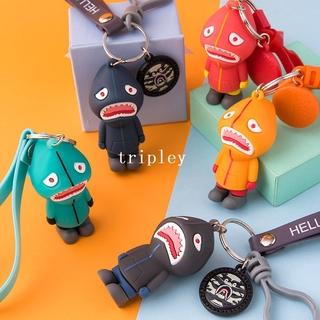 潮牌 bape 鯊魚仔 鑰匙扣 掛件 創意 個性 汽車 男士 可愛 女 情侶 掛飾 鑰匙鏈 圈環