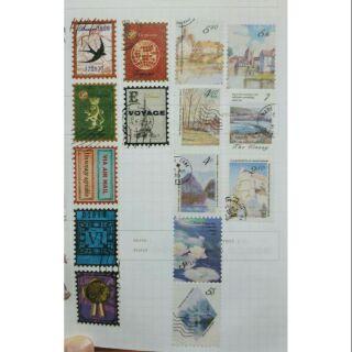 [分裝]郵票款紙膠帶 復古風 風景畫 紙膠帶