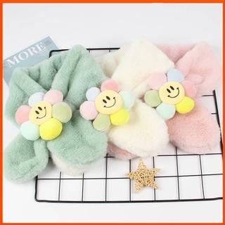 兒童圍巾秋冬季毛絨親子可愛卡通仿兔毛寶寶雲朵圍脖男童女童毛毛