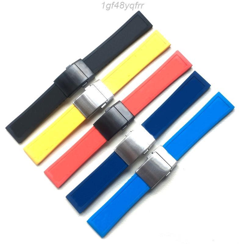 ❤拾優生活❤錶帶代用Breitling百年靈手表帶柔軟硅膠橡膠復仇者22mm❤24mm海狼黑鳥