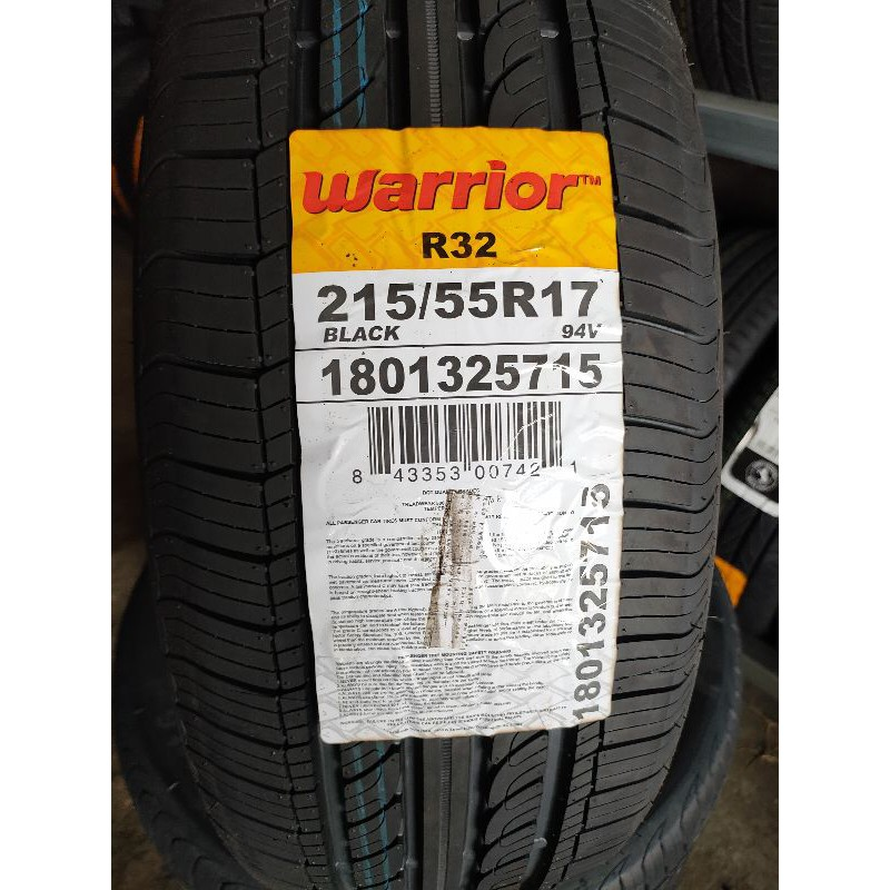 南區輪胎倉儲  衝評價免運費  warrior  回力輪胎 R32.  215/55/R17