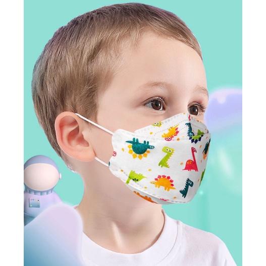 (快速出貨)口罩四層兒童口罩 KF94口罩 成人KF94口罩 一次性kf94可愛立體魚嘴型彩色春夏季防曬防粉塵