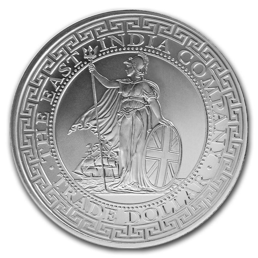[白銀之手]<預購>2018-2020聖赫勒拿貿易銀普鑄銀幣系列組-英國、美國、中國、日本、法國整組7550