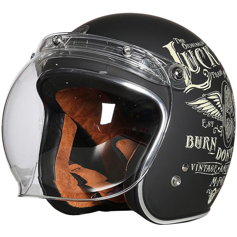 【大雄】TORC摩托車復古頭盔男女半盔覆式太子機車夏季電動安全帽四季通用