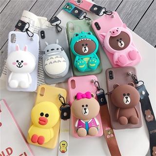 龍貓恐龍錢包手機殼 iPhone 5 5S 6 6S 6plus 6Splus 7 8 7plus 8plus X XS