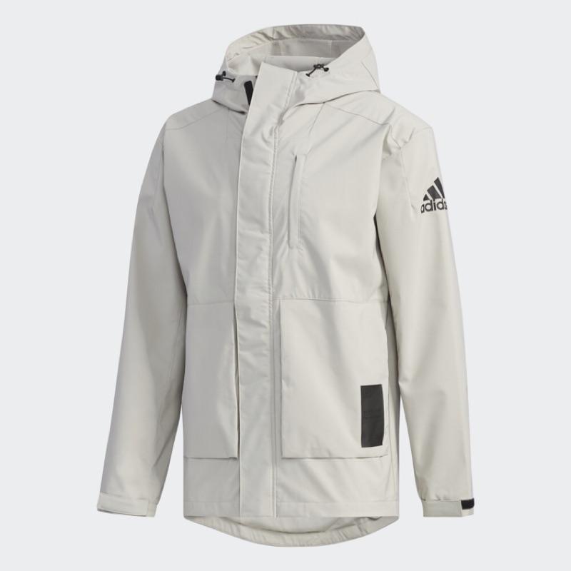 [Adidas] 男款運動休閒防風外套 米灰色 EH3743《曼哈頓運動休閒館》