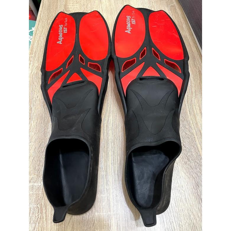 二手 五成新 迪卡儂蛙鞋 約70公分 適合腳26.5-27.5公分