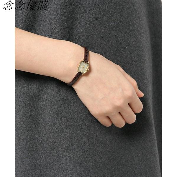 💎日本ete同款方形女士ins手錶chic復古鱷魚紋細帶小錶盤