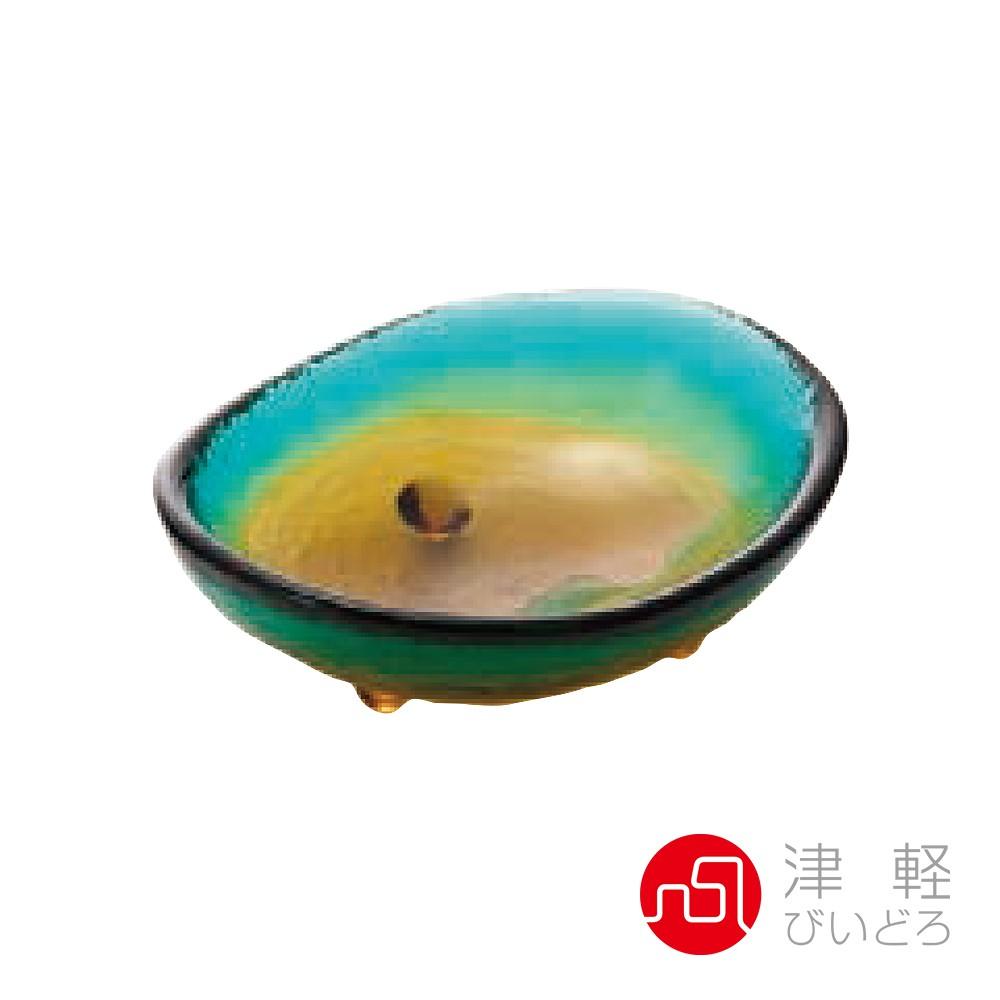 【日本ADERIA津輕】 手作醬料皿 藍綠/黃《WUZ屋子》