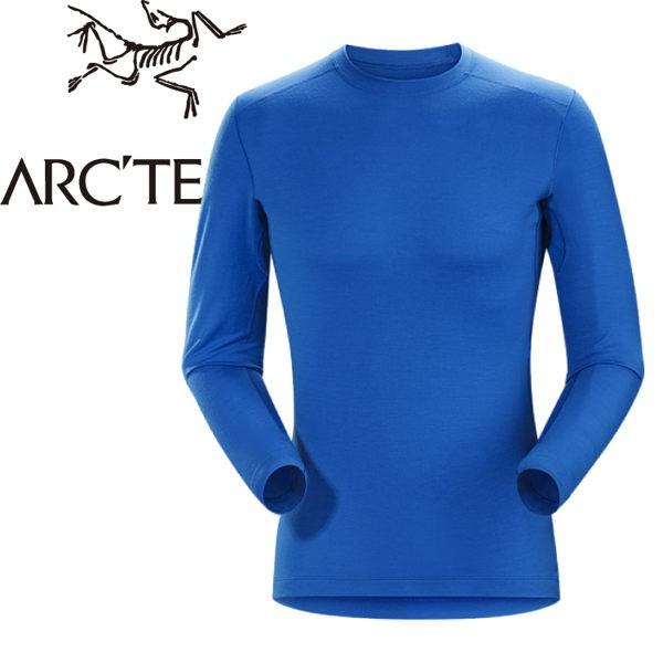 【ARC TERYX 始祖鳥 男款 Satoro AR羊毛內層圓領衫《參宿藍》】16270/保暖衣/內層衣/羊/悠遊山水