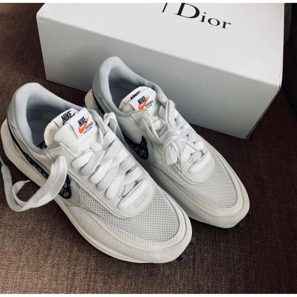 日韓直購 實拍 AD-Nike x Sacai x Dior 聯名 20 白灰 休閒鞋