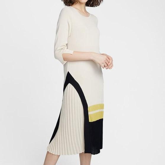 Knitwear Pleat Dress 針織百摺連身裙