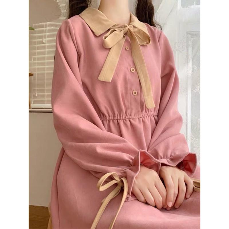 梨花朵朵 日系 綁帶娃娃洋裝