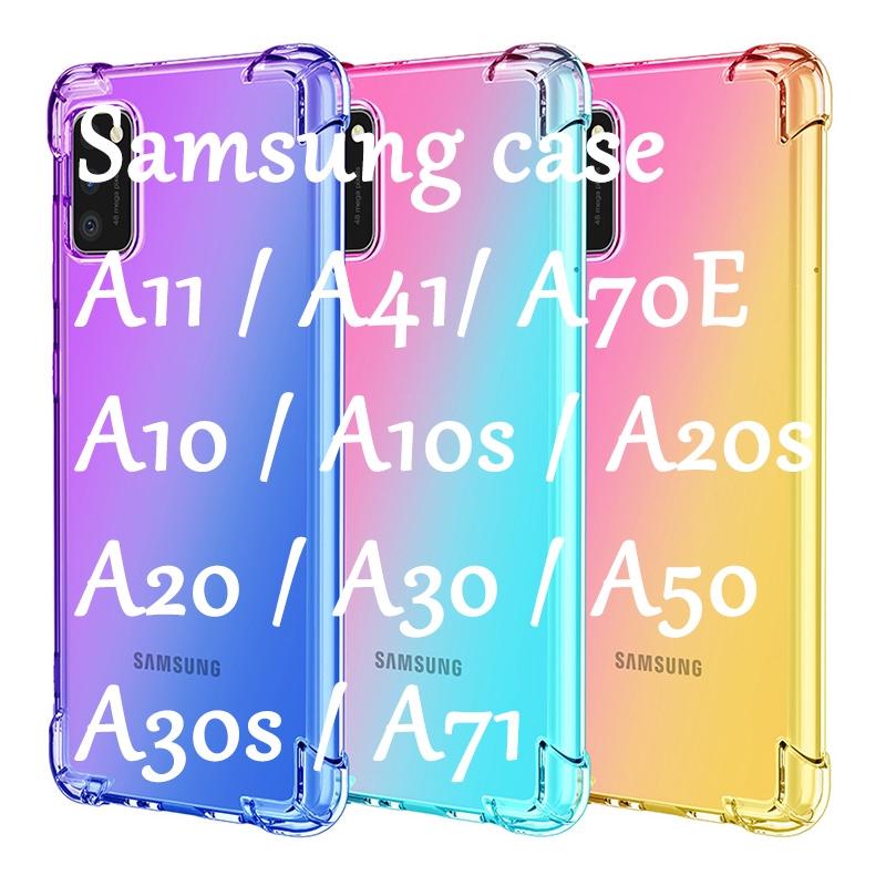 三星Galaxy A41Case和A7 2018 A70E A20 A30 A50 A30S A71漸變更高手機屏幕的外