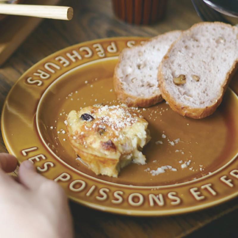 日式 日本進口Studio M漁人陶瓷餐具日式家用菜盤餐盤字母圓盤甜品盤
