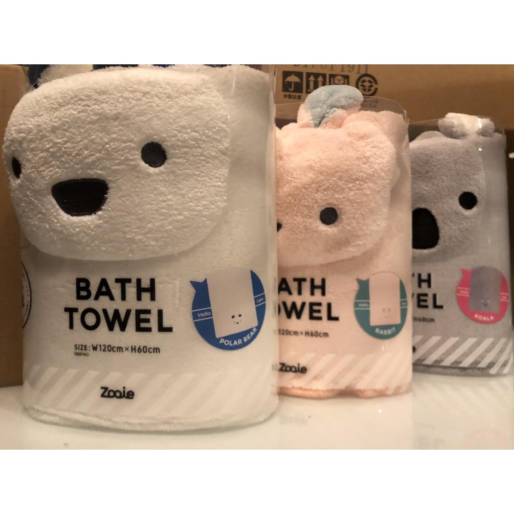 現貨秒出🐶3倍吸水速乾🐶大浴巾 動物造型 carari zooie  CB Japan
