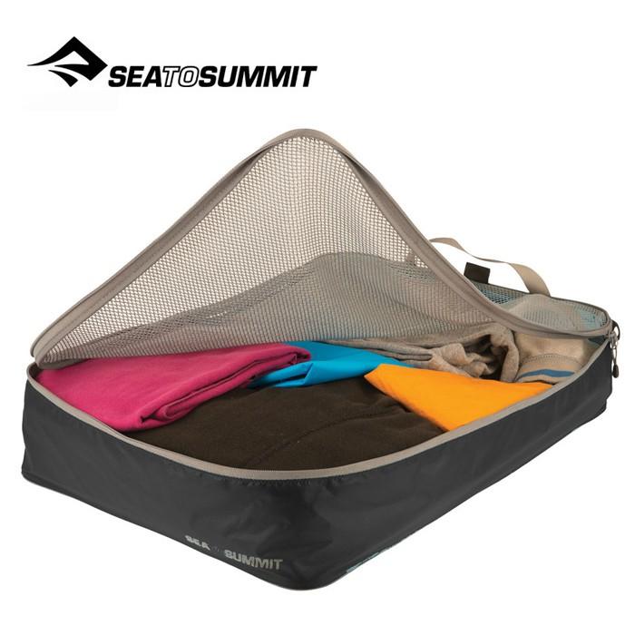 【Sea To Summit 澳洲】旅行打理包 衣物打理包【L號】黑/淺灰 (ATLGMBL)