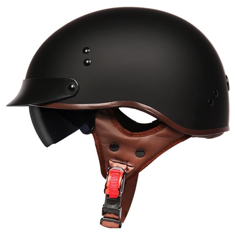™TORC摩托車復古頭盔男女哈雷半盔夏季電動車輕便式安全帽瓢盔機車