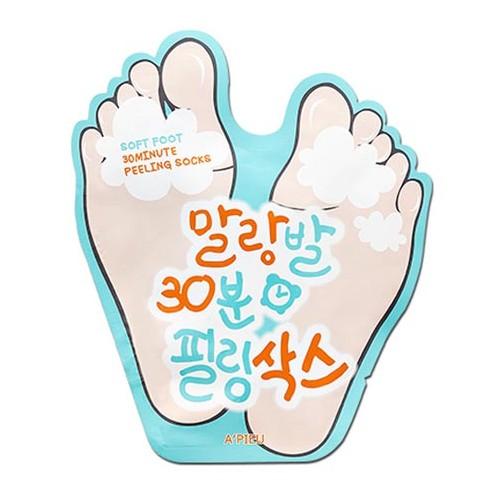 韓國 Apieu 去角質足膜(1對入)【小三美日】D788311