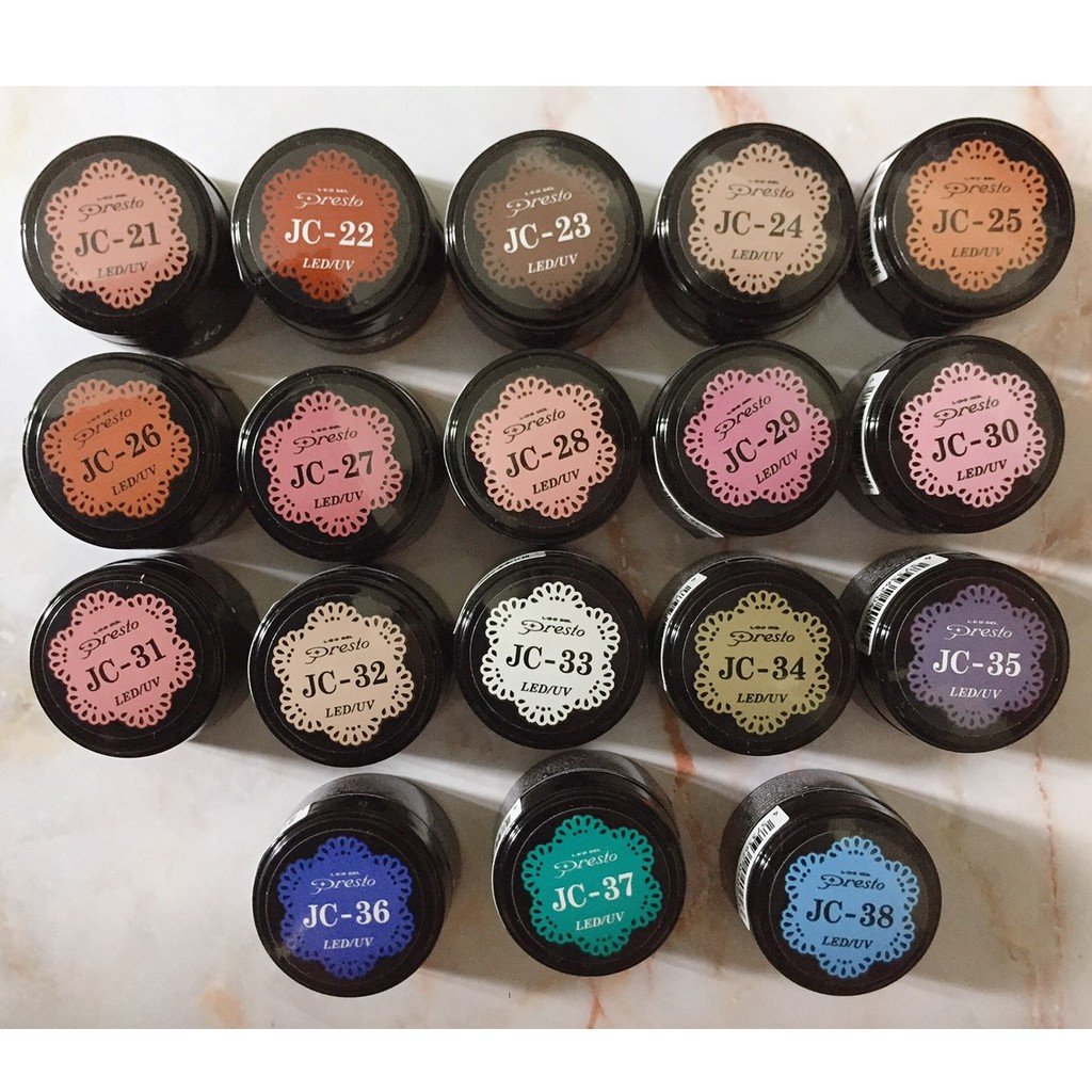 全新現貨❤Presto 罐裝色膠⤕JC系列罐裝凝膠 JC21~JC68 ⤕彩色凝膠⤕色膠⤕光療凝膠⤕美甲凝膠 罐裝膠