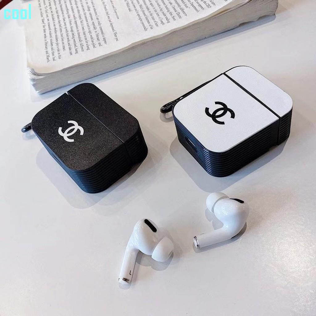 潮流CHANEL耳機套 簡約素面香奈兒 適用於AirPods1/2 AirPods Pro耳機套 蘋果無線藍牙