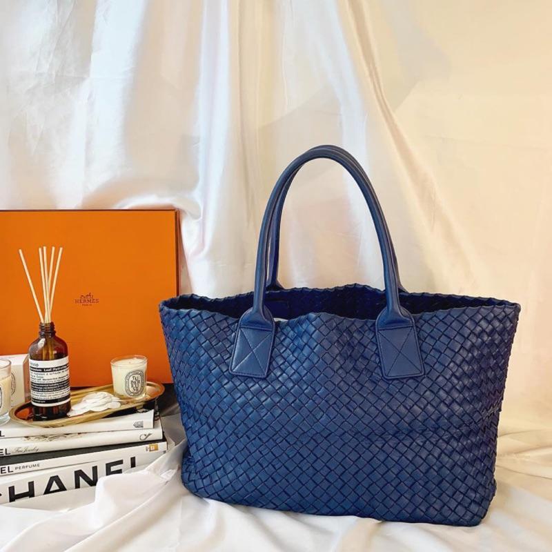 Bottega Veneta Cabat tote handbag  BV Cabat 藍色限量款編織 小托特手袋