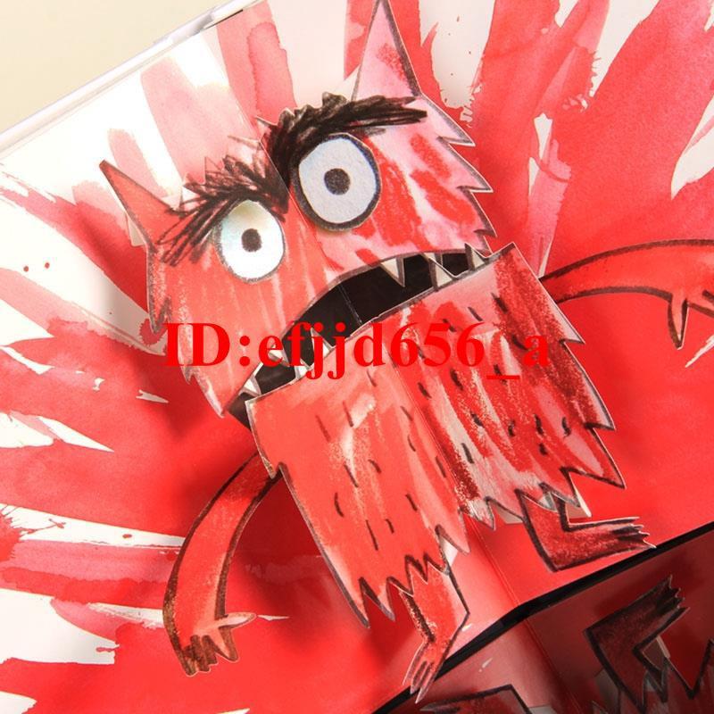 特價The Color Monster3D立體書我的情緒小怪獸英文原版繪本支持點讀特賣