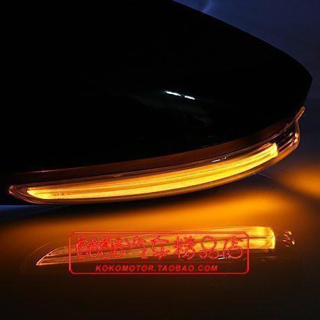 SantaFeKIA 起亞 CARENS 福瑞迪 LED后視鏡罩 韓國進口汽車內飾改裝飾品