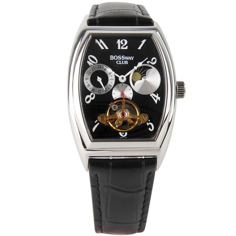 【   BOSSWAY  】 歡樂時光休閒機械錶  ( 黑-35mm )