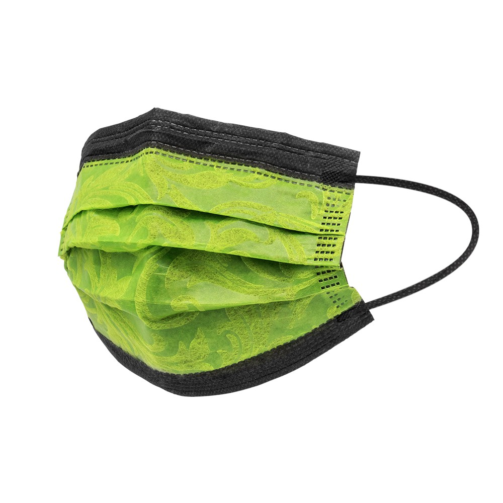 【立滋】時尚造型口罩 三層防護口罩 防護口罩/非醫療 台灣製 (10片/包) 貴妃綠