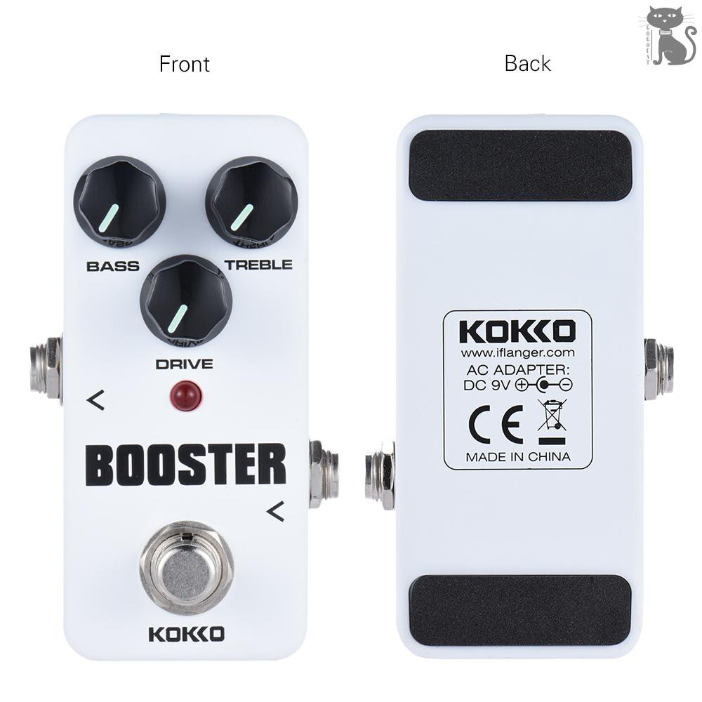 NEW KOKKO FBS2 Mini Booster Pedal便攜式2頻段EQ吉他效果踏板
