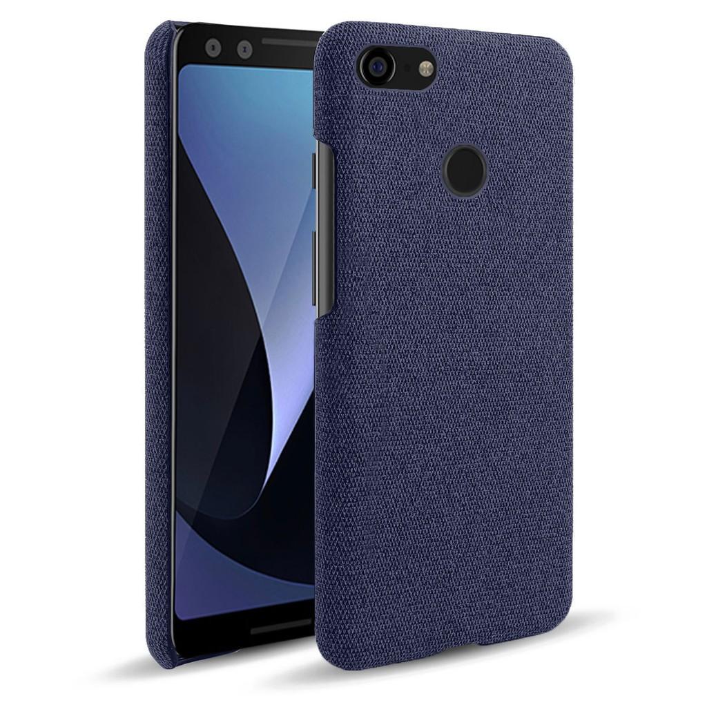 佈紋手機殼 Google Pixel 3手機殼 防刮布紋手機皮套 谷歌Pixel3手機保護殼套 現貨 可貨到付款