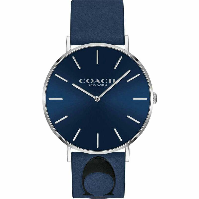 COACH 寇馳 限量絕版大logo圖騰烙印錶帶石英錶 手錶 寬版 大錶面