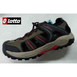 義大利金英鞋坊第一品牌-LOTTO 男款水陸悍將6大機能戶外排水護趾運動涼鞋 3113-咖啡 超低直購價498元
