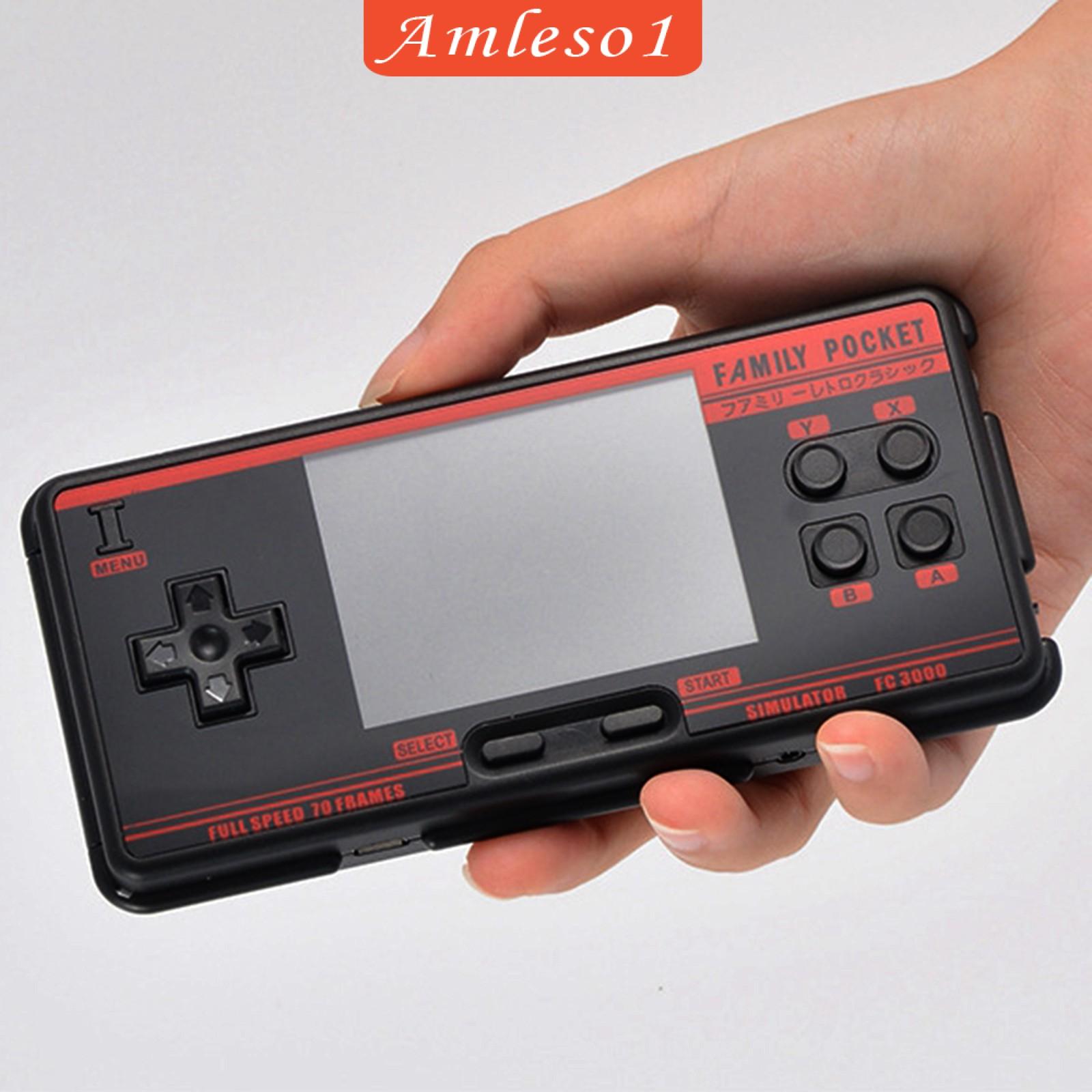 "[Amleso1] Fc3000 掌上游戲機 3\ ""高清屏幕視頻經典遊戲機"