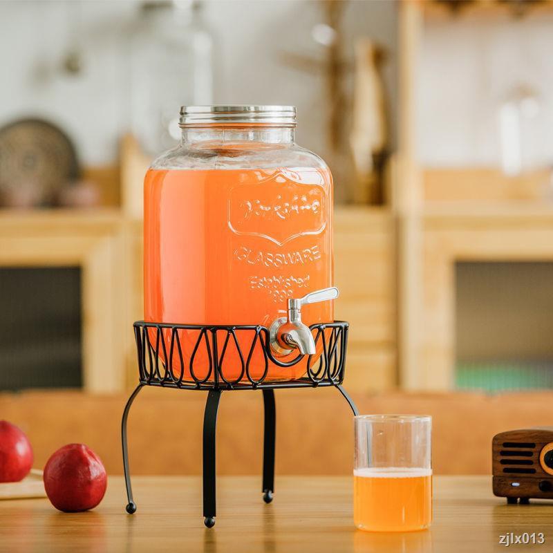 果汁罐帶龍頭玻璃瓶透明玻璃瓶酵素瓶家用果汁罐泡酒瓶密封罐