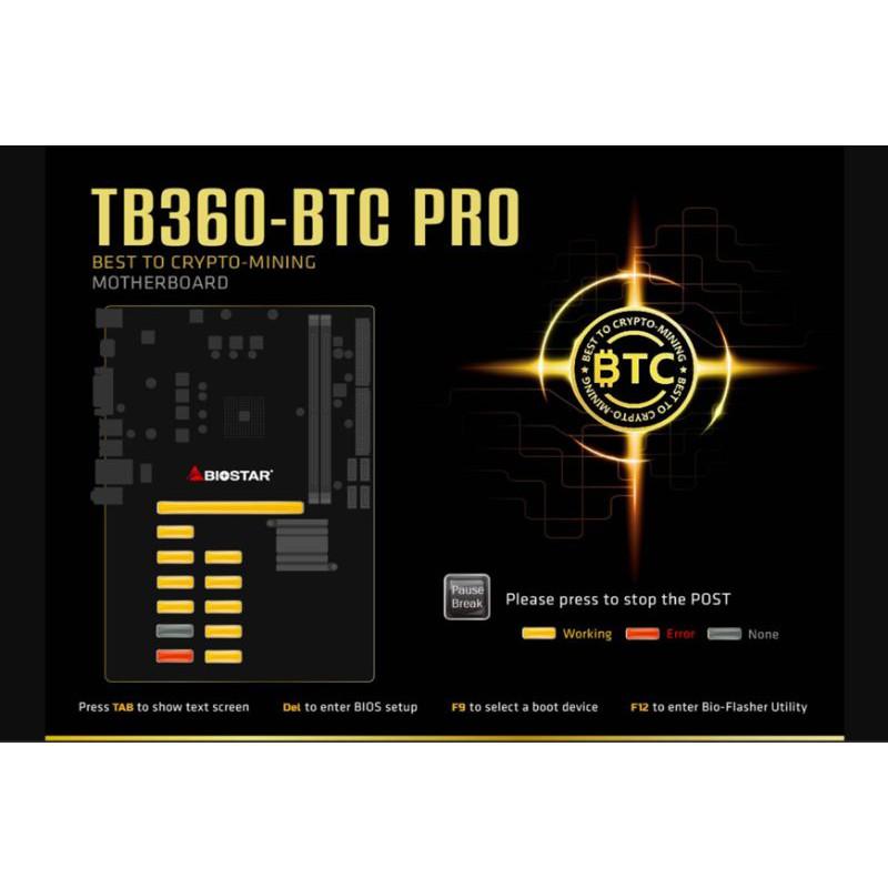 映泰biostar TB360-BTC PRO 12卡 挖礦神版 全新品