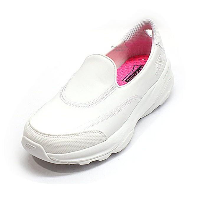 新貨到   SKECHERS GO FIT護士鞋懶人鞋 女款皮革面健走走休閒鞋 82k 13938WHT tr42