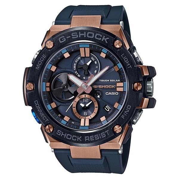 CASIO 卡西歐 G-SHOCK 太陽能藍芽 (GST-B100G-2A) 運動錶