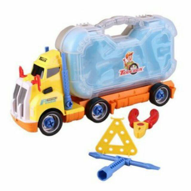 電動卡車(現貨) 益智造型卡車 車頭有黃色跟綠色~兩色混出不挑