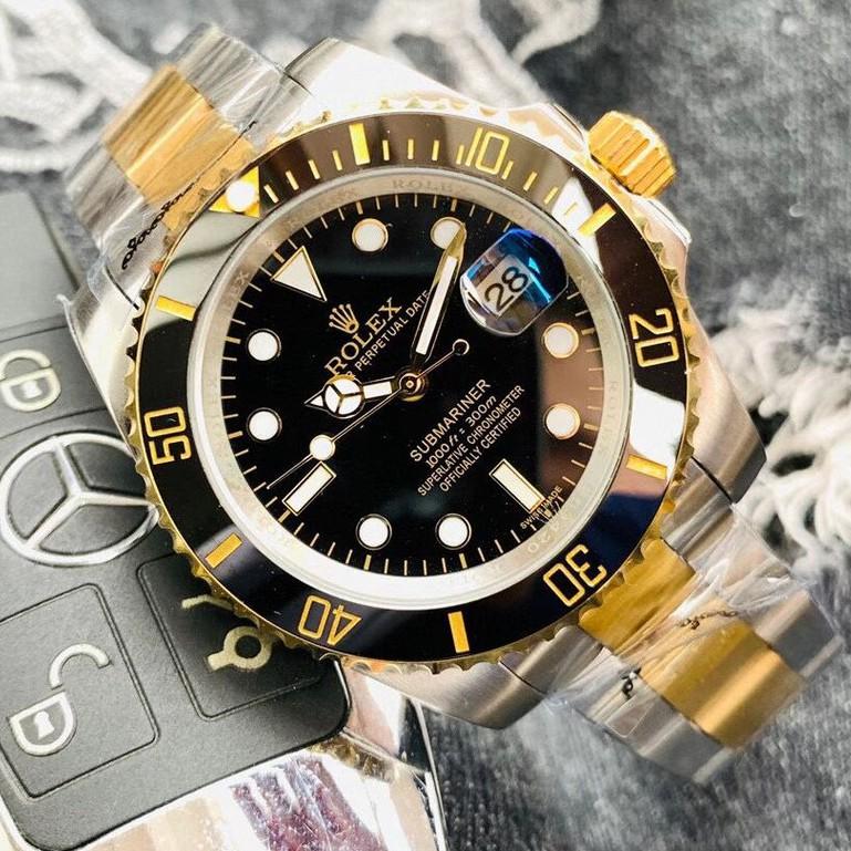 Rolex-勞力士 經典男士機械綠水鬼 藍黑水鬼 316精鋼 礦物質耐磨鏡面 全自動機械錶 商務男錶 男士腕錶